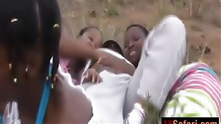African sluts outdoor blowjob group interracial