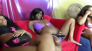 African pregnant babes having lesbian orgy with toys