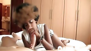 African babe riding long fat dick