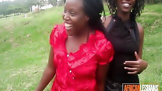 Amateur Busty African Lesbians Licking Pussies
