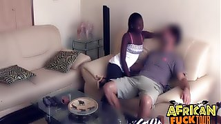 Real African Amateur Fucked Doggystyle On Couch