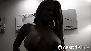 African Beauty With Big Tits Loves Cock
