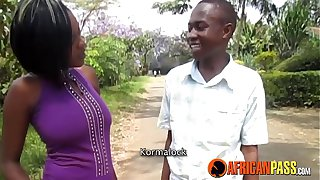 Young African Amateurs Shower Sex