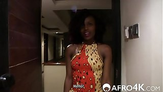 GORGEOUS AFRICAN AMATEUR FUCKED ON A BACKROOM CASTING COUCH